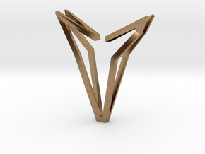 YOUNIVERSAL Simplicist, Pendant. Simplified Chic in Natural Brass