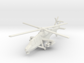 1/300 HAL Light Combat Helicopter in White Strong & Flexible