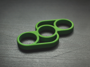 The Split - Fidget Spinner in Green Processed Versatile Plastic