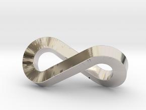 infinity-moebius pendant in Platinum