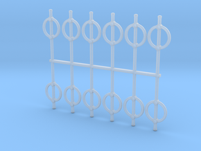 HO Scale Post-Loop Bike Lock in Smooth Fine Detail Plastic