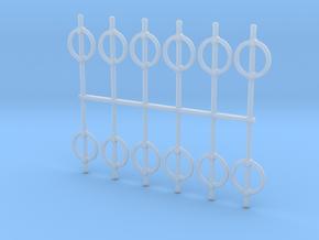HO Scale Post-Loop Bike Lock in Smooth Fine Detail Plastic