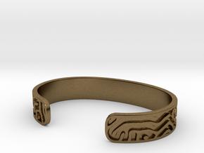 Diffusion Cuff in Natural Bronze: Small
