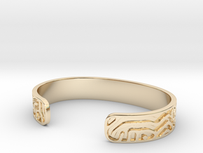Diffusion Cuff in 14k Gold Plated Brass: Small