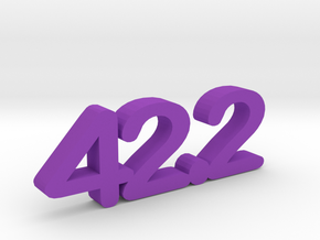 42.2 Paper Weight in Purple Strong & Flexible Polished
