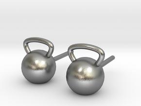 Kettlebelt Studs in Natural Silver