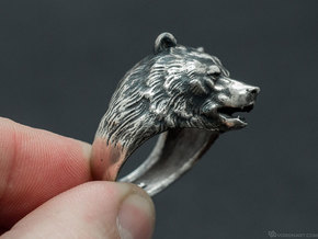 Bear ring in Antique Silver: 11.5 / 65.25