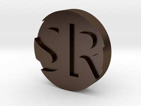 CoolSpin - Top Button only in Polished Bronze Steel