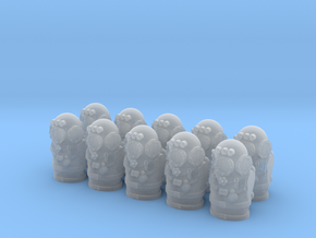 28mm retro hazmat torsos in Frosted Extreme Detail