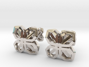 A-LINE CUFFLINX in Rhodium Plated Brass