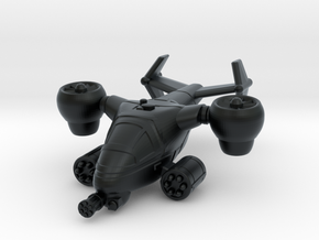 Terran Ground Attack VTOL in Black Hi-Def Acrylate