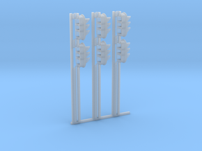 N-Gauge signal for Digitrax SMBK base (3-pack) in Smooth Fine Detail Plastic
