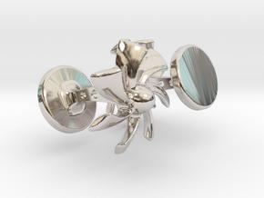 Turbine Cufflinks in Platinum