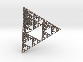 Sierpinski Fractal in Polished Bronzed Silver Steel