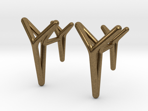 YOUNIVERSAL ONE Cufflinks. Pure Elegance for Him in Natural Bronze