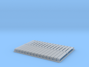 HO 30x10ftx8 Cor. Bullnose Corrugated Iron Sheets in Smooth Fine Detail Plastic