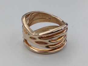 Strands Ring Size 8 in Polished Bronze