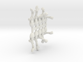 Cybernetic Arms Sprue 1 in White Strong & Flexible
