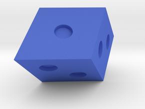 Rhombohedral D6 in Blue Processed Versatile Plastic