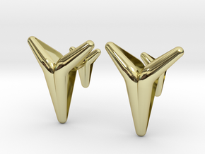 YOUNIVERSAL Smooth & Sharp Cufflinks.  in 18K Gold Plated