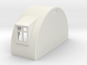 N-87-complete-nissen-hut-end-brick-wind-l-16-36-1a in White Natural Versatile Plastic