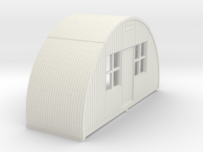 N-87-complete-nissen-hut-front-16-36-1a in White Natural Versatile Plastic