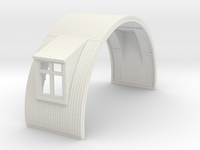 N-87-complete-nissen-hut-mid-16-door-wind-1a in White Natural Versatile Plastic