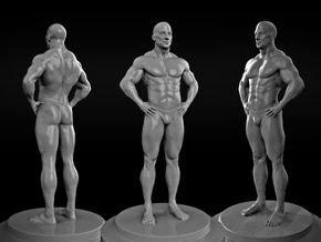 Bodybuilder in White Natural Versatile Plastic