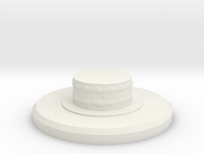 Fidget Spinner Bearing Cap in White Natural Versatile Plastic