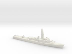 Restigouche-class DDE (Gulf War Refit), 1/2400 in White Natural Versatile Plastic
