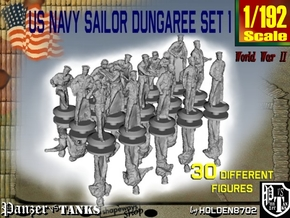 1-192 US Navy Dungaree Set 1 in Smoothest Fine Detail Plastic