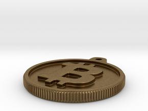 Bitcoin Keychain in Natural Bronze