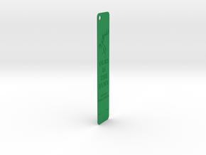 Baratheon Bookmark in Green Processed Versatile Plastic: Medium