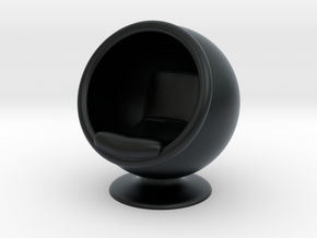 Ball Chair in Black Hi-Def Acrylate