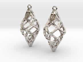 Capriccio Earrings in Rhodium Plated Brass