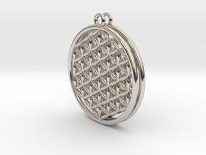 Flower Of Life Earrings in Platinum