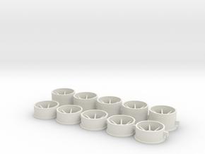 13x5x2.38 + 13x8x2.38 in White Natural Versatile Plastic