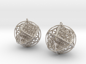 Ball Of Life Earrings in Platinum