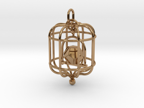 Platonic Birds - Dodecahedron in Polished Brass (Interlocking Parts)