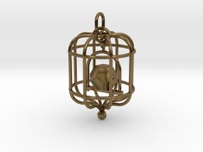 Platonic Birds - Dodecahedron in Interlocking Polished Bronze