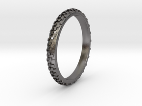 Dirt Bike Tire Ring in Polished Nickel Steel: 13 / 69