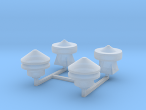Tower 106-107 Roof Details in Smooth Fine Detail Plastic