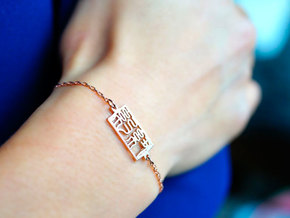 New York Charm Bracelet in 14k Rose Gold Plated