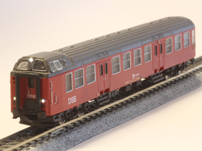 DSB class Bns cab car N scale in Smooth Fine Detail Plastic