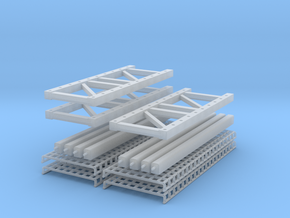 Pallet Rack 2 High- 2 Wide in Frosted Ultra Detail