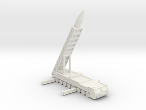 Fictional ICBM Launcher in White Natural Versatile Plastic