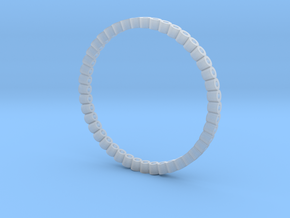 Pierced Picot Stacking Ring in Smooth Fine Detail Plastic