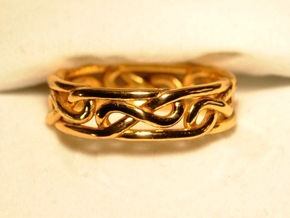 Celtic Infinity Knot Ring in 14K Yellow Gold: 10 / 61.5