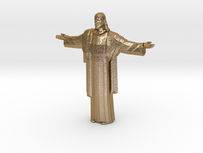 Cristo-redentor in Polished Gold Steel