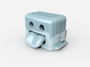 Toaster in White Natural Versatile Plastic